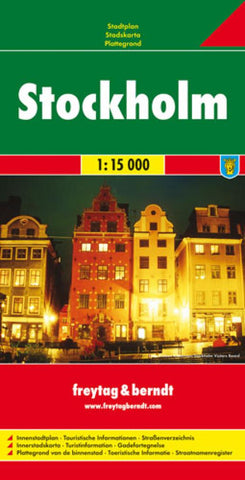 Buy map Stockholm, Sweden by Freytag-Berndt und Artaria