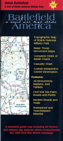 Buy map Shiloh Battlefield (in Shiloh Natl Military Park) #102 by Trailhead Graphics, Inc.