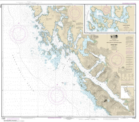 Buy map Khaz Bay, Chichagof Island Elbow Passage (17322-11) by NOAA