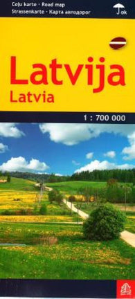 Buy map Latvia road map, laminated by Jana Seta