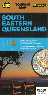 Buy map Southeastern, Queensland by Universal Publishers Pty Ltd