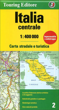 Buy map Italy, Central by Touring Club Italiano