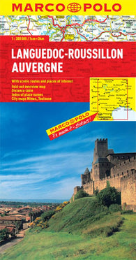Buy map Languedoc-Roussillon and Auvergne, France by Marco Polo Travel Publishing Ltd