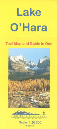 Buy map Lake OHara, Yoho Natl Park, British Columbia Trail Map and Guide in One by Gem Trek