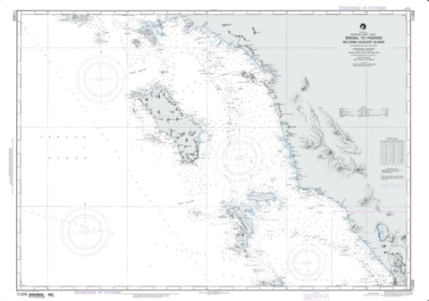 Buy map Singkil To Padang Including Adjacent Islands (NGA-71009-3) by National Geospatial-Intelligence Agency