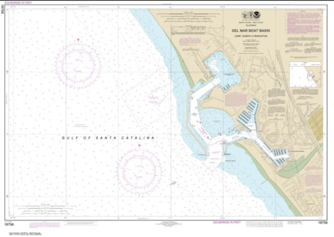 Buy map Del Mar Boat Basin (18758-7) by NOAA