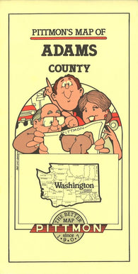 Buy map Adams County, Washington by Pittmon Map Company
