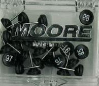 Buy map Black Push Pins Numbered 76-100 by Moore Push-Pin Co.