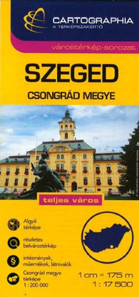 Buy map Szeged, Hungary by Cartographia