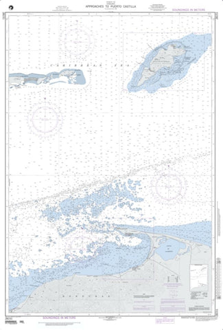 Buy map Approaches To Puerto Castilla (NGA-28151-2) by National Geospatial-Intelligence Agency