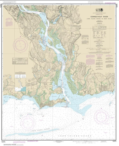 Buy map Connecticut River Long lsland Sound to Deep River (12375-22) by NOAA