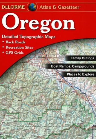 Buy map Oregon, Atlas and Gazetteer by DeLorme