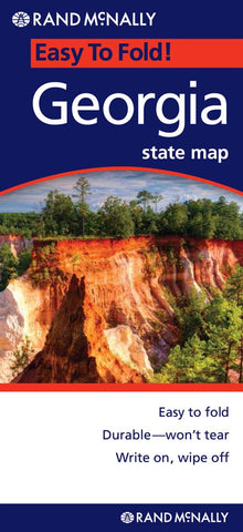 Buy map Georgia, Easy to Fold by Rand McNally