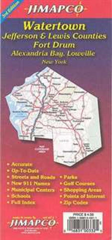 Buy map Watertown, New York with Jefferson and Lewis Counties by Jimapco