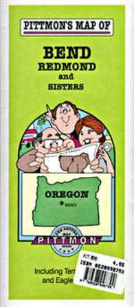 Buy map Bend, Redmond and Sisters, Oregon by Pittmon Map Company