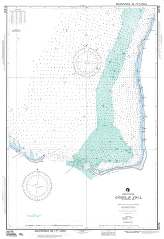 Buy map Rongelap Atoll, Southeastern Part, Marshall Islands (NGA-81576-2) by National Geospatial-Intelligence Agency