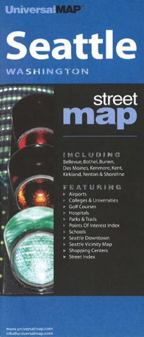 Buy map Seattle, Washington by Kappa Map Group