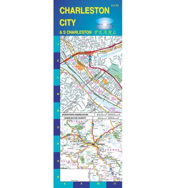 Buy map Charleston and South Charleston, West Virginia, Pearl Map, laminated by GM Johnson