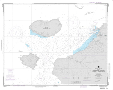 Buy map Uummannaq (Dundas) Harbor And Approaches (NGA-38341-3) by National Geospatial-Intelligence Agency