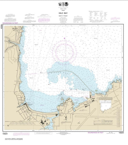 Buy map Island Of Hawai'i Hilo Bay (19324-23) by NOAA