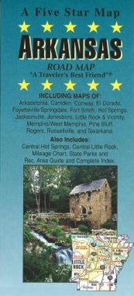 Buy map Arkansas by Five Star Maps, Inc.