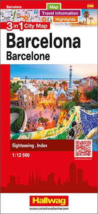 Buy map Barcelona 3 in 1 City Map by Hallwag