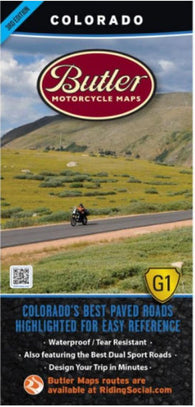 Buy map Colorado G1 Map by Butler Motorcycle Maps