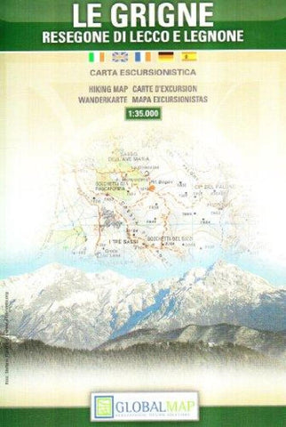 Buy map Le Grigne, Italy by Litografia Artistica Cartografica