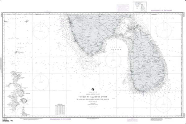 Buy map Cochin To Calimere Point With Sri Lanka (NGA-63010-14) by National Geospatial-Intelligence Agency