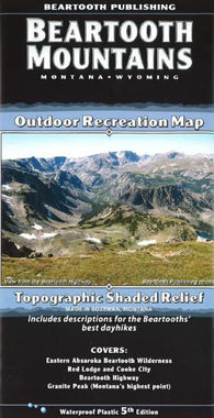 Buy map Beartooth Mountains, Montana and Wyoming by Beartooth Publishing