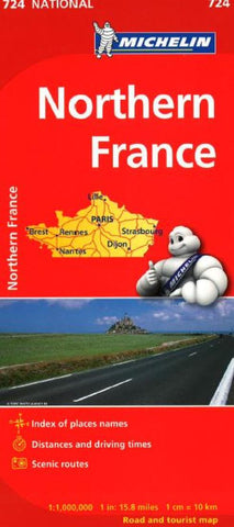 Buy map France, Northern (724) by Michelin Maps and Guides