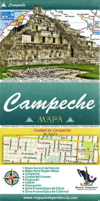 Buy map Campeche, Mexico, State and Major Cities Map by Ediciones Independencia
