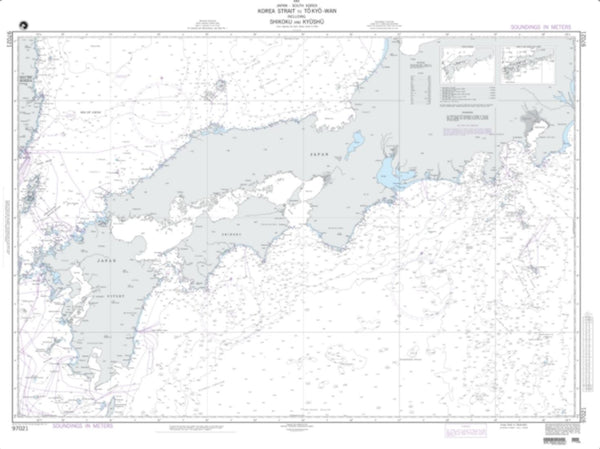 Buy map Honshu: Korea Strait To Tokyo-Wan (NGA-97021-7) by National Geospatial-Intelligence Agency