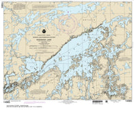 Buy map Saganaga Lake (14985-9) by NOAA