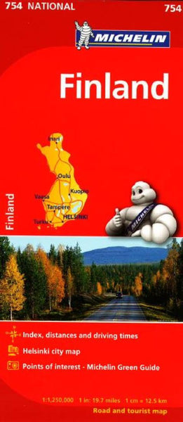 Buy map Finland (754) by Michelin Maps and Guides