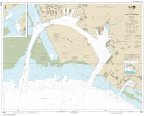Buy map Island of O'ahu Honolulu Harbor (19367-41) by NOAA