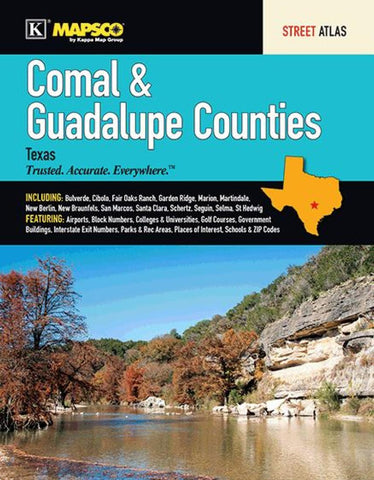 Buy map Comal and Guadalupe Counties, TX, Street Atlas by Kappa Map Group