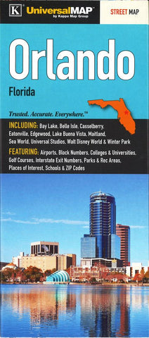 Florida Colleges Map.Buy Map Orlando Florida By Kappa Map Group Yellowmaps Map Store