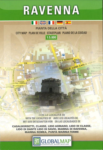 Buy map Ravenna, Italy by Litografia Artistica Cartografica