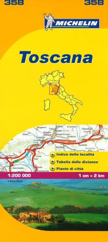 Buy map Tuscany, Italy (358) by Michelin Maps and Guides