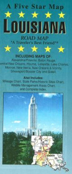 Buy map Louisiana by Five Star Maps, Inc.