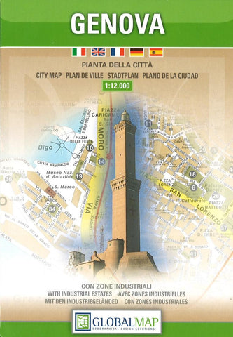 Buy map Genoa, Italy by Litografia Artistica Cartografica