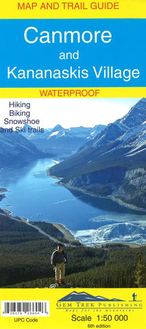 Buy map Canmore and Kananaskis Village, Alberta, Map and Trail Guide (waterproof) by Gem Trek