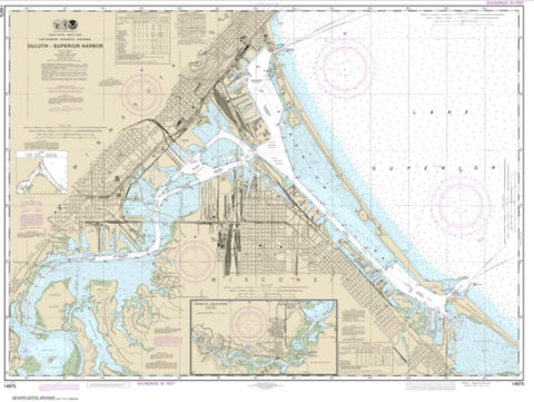 Buy map Duluth-Superior Harbor; Upper St. Louis River (14975-36) by NOAA