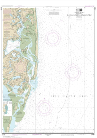 Buy map Chatham Harbor and Pleasant Bay (13248-12) by NOAA