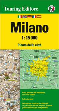 Buy map Milan, Italy by Touring Club Italiano