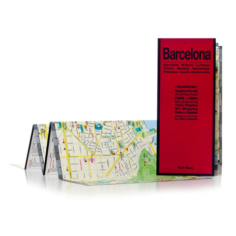 Buy map Barcelona, Spain by Red Maps
