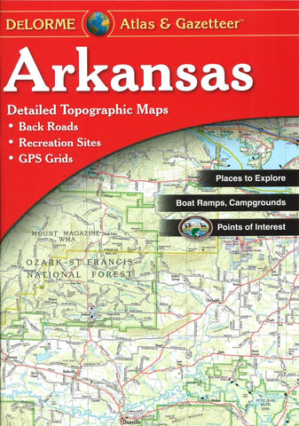 Buy map Arkansas Atlas and Gazetteer by DeLorme