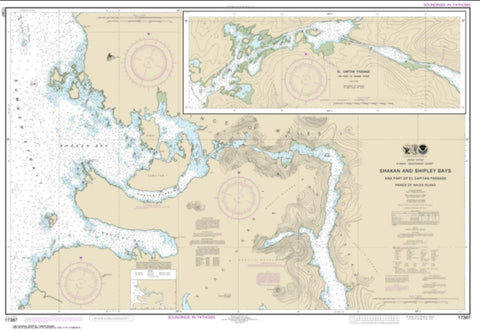 Buy map Shakan and Shipley Bays and Part of El Capitan Passage; El Capitan Pasage, Dry Pass to Shakan Strait (17387-14) by NOAA