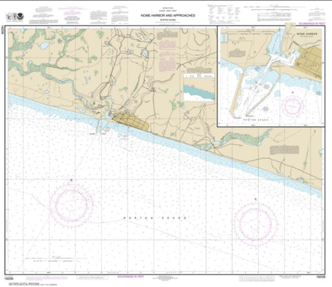 Buy map Nome Hbr. and approaches, Norton Sound; Nome Harbor (16206-9) by NOAA